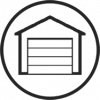 Icône garage et agrandissement